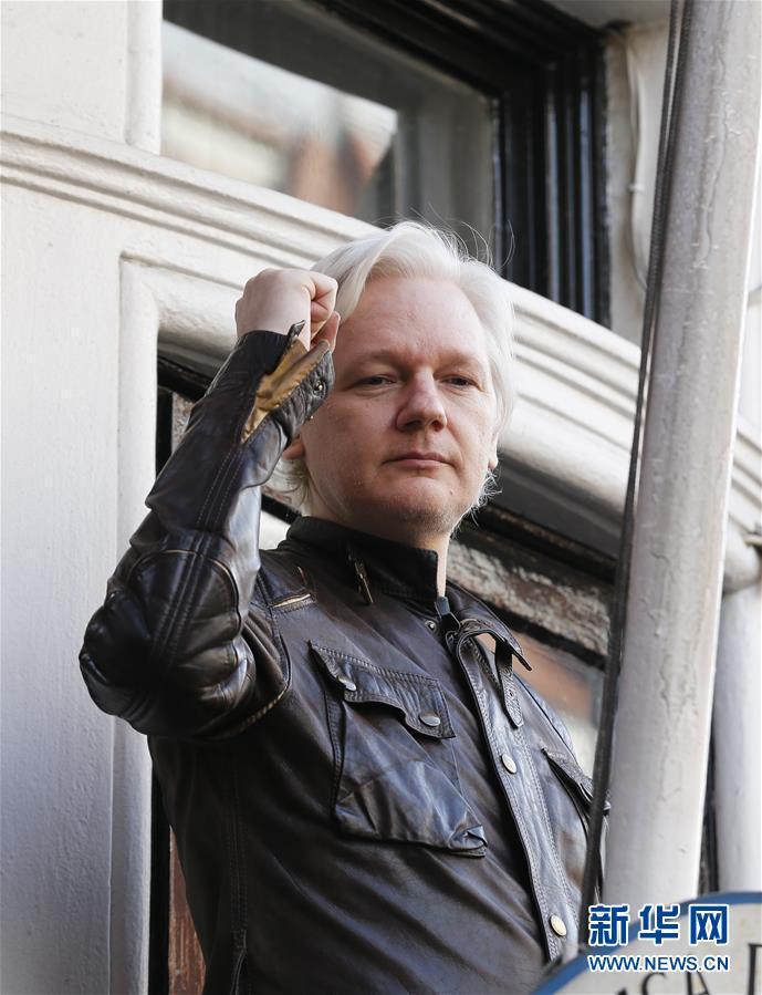 """(国际)(2)""""维基揭秘""""创始人阿桑奇在伦敦被捕"""