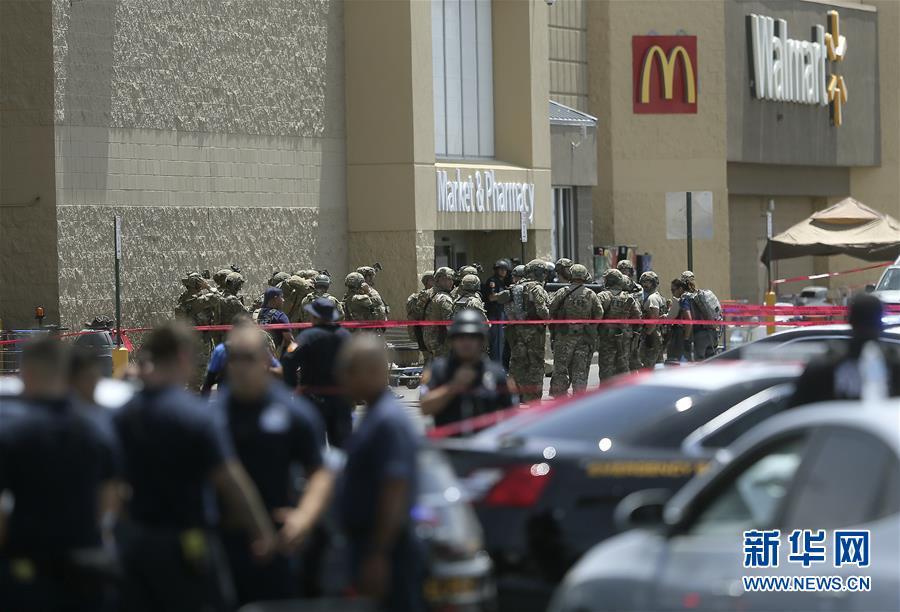 (国际)(1)美国得克萨斯州枪击案致20人死亡